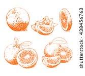 orange isolated  orange vector. ... | Shutterstock .eps vector #438456763