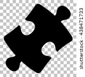 puzzle piece sign. flat style...