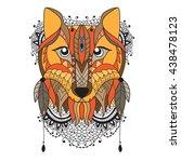 animal vector portrait   fox | Shutterstock .eps vector #438478123