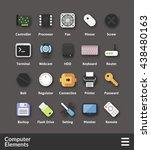flat material design icons set  ...