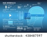set of hud elements for virtual ... | Shutterstock .eps vector #438487597