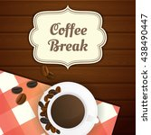 coffee break illustration with... | Shutterstock .eps vector #438490447
