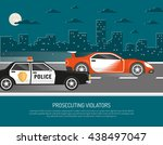 street racing in city scene... | Shutterstock .eps vector #438497047