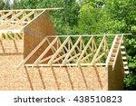 new roof construction   Shutterstock . vector #438510823
