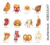 Fast Food Emoticon Characters...