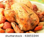Roasted Whole Chicken On A...
