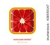 delicious grapefruit square...