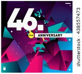 46th anniversary logo with... | Shutterstock .eps vector #438557473
