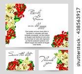 romantic invitation. wedding ... | Shutterstock .eps vector #438563917