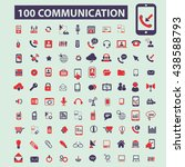 communication icons | Shutterstock .eps vector #438588793