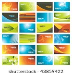 Set Of Colorful Business Cards...
