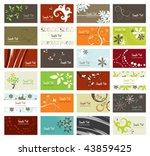 Set Of Elegant Business Cards ...