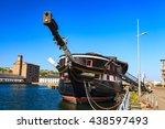 hm frigate unicorn in dundee ... | Shutterstock . vector #438597493