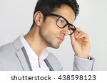 handsome man wearing a pair of... | Shutterstock . vector #438598123