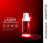 laser serum collagen and... | Shutterstock .eps vector #438609733