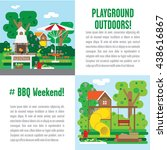 set of illustrations weekend... | Shutterstock .eps vector #438616867