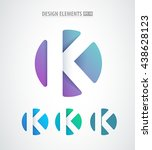 vector abstract letter k icon.... | Shutterstock .eps vector #438628123