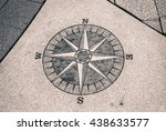 compass abstract on ground | Shutterstock . vector #438633577