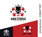 fitness   gym logo template... | Shutterstock .eps vector #438637987