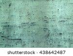 blue green oxidized copper... | Shutterstock . vector #438642487
