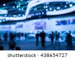 abstract blur exhibition hall...   Shutterstock . vector #438654727