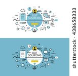 set of modern vector...   Shutterstock .eps vector #438658333