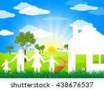 countryside house indicating... | Shutterstock . vector #438676537