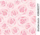 seamless pattern with rose... | Shutterstock . vector #438680377