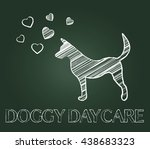 doggy daycare representing... | Shutterstock . vector #438683323