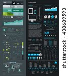 elements of infographics with ... | Shutterstock .eps vector #438689593