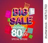 big sale discount 80  off... | Shutterstock .eps vector #438711703