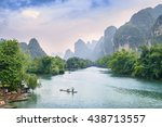 landscape of guilin  li river... | Shutterstock . vector #438713557