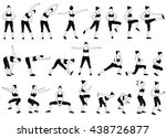 set of vector sport girls... | Shutterstock .eps vector #438726877