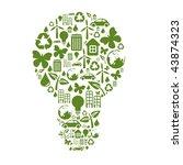 illustration of bulb shape ... | Shutterstock . vector #43874323