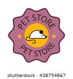 logo for pet shop or animal... | Shutterstock .eps vector #438754867