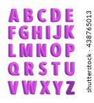 purple fabric knitted alphabet. ... | Shutterstock . vector #438765013