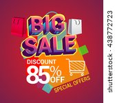 big sale discount 85  off... | Shutterstock .eps vector #438772723