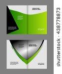 vector empty bi fold brochure... | Shutterstock .eps vector #438778873