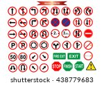 road sign icons pack for art... | Shutterstock .eps vector #438779683
