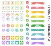 set of hand drawn number  in... | Shutterstock .eps vector #438780157