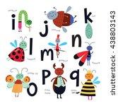 vector alphabet for children.... | Shutterstock .eps vector #438803143