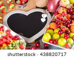 table prepared with a variety... | Shutterstock . vector #438820717