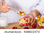 chef preparing a delicious... | Shutterstock . vector #438822373