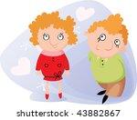 valentine day's illustration | Shutterstock .eps vector #43882867