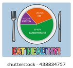 healthy nutrition food. health... | Shutterstock .eps vector #438834757