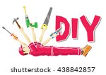 do it yourself concept  man as... | Shutterstock .eps vector #438842857