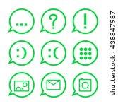 web messenger conversation icon ... | Shutterstock .eps vector #438847987