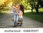 mother and son | Shutterstock . vector #438849097