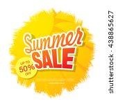 summer sale. vector template... | Shutterstock .eps vector #438865627