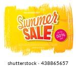 summer sale. vector template... | Shutterstock .eps vector #438865657